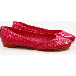 """Baleriny damskie lakierowane: Skórzane baleriny """"Kate"""" w kolorze czerwonym"""