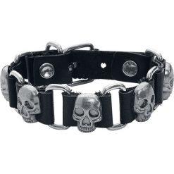 Skull Bransoletka skórzana czarny/odcienie srebrnego. Czarne bransoletki męskie marki Skull, metalowe. Za 32,90 zł.
