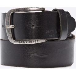 Jack & Jones - Pasek skórzany. Czarne paski męskie marki Jack & Jones, l, z bawełny, z okrągłym kołnierzem. W wyprzedaży za 79,90 zł.