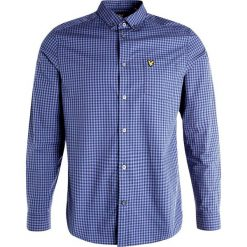Koszule męskie na spinki: Lyle & Scott GINGHAM  Koszula storm blue
