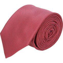 Krawaty męskie: krawat platinum czerwony classic 221
