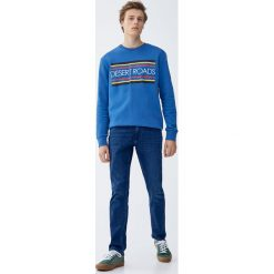 Jeansy slim fit. Niebieskie jeansy męskie regular Pull&Bear, z jeansu. Za 139,00 zł.