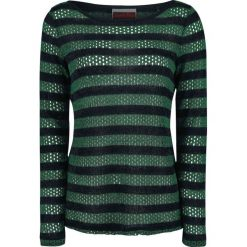 Swetry klasyczne damskie: Jawbreaker Forest Stripes Sweater Sweter damski zielony/czarny