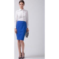 Klasyczna niebieska spódnica  BIALCON. Czerwone spódnice wieczorowe marki BIALCON, na co dzień, oversize. Za 155,00 zł.
