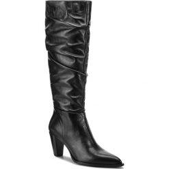 Kozaki ZINDA - 3672 Softly Negro. Czarne buty zimowe damskie Zinda, ze skóry, przed kolano, na wysokim obcasie. Za 839,00 zł.