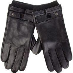 Rękawiczki Męskie WITTCHEN - 39-6-704-1-L Czarny. Czarne rękawiczki męskie Wittchen, ze skóry. W wyprzedaży za 199,00 zł.