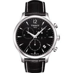 PROMOCJA ZEGAREK TISSOT T-CLASSIC T063.617.16.057.00. Czarne zegarki męskie TISSOT, ze stali. W wyprzedaży za 1478,40 zł.