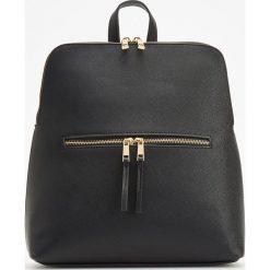 Elegancki plecak - Czarny. Czarne plecaki damskie marki Reserved, eleganckie. Za 99,99 zł.