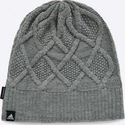 Adidas Performance - Czapka. Szare czapki zimowe damskie adidas Performance, na zimę, z dzianiny. W wyprzedaży za 79,90 zł.