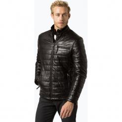 James - Męska kurtka skórzana – Hudson, czarny. Czarne kurtki męskie pikowane marki James, m. Za 899,95 zł.