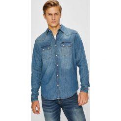 Lee - Koszula Rider. Niebieskie koszule męskie jeansowe marki Lee, l, z długim rękawem. Za 329,90 zł.