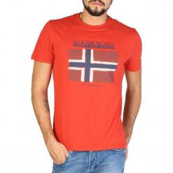 Napapijri T-Shirt Męski L Pomarańczowy. Szare t-shirty męskie marki Napapijri, l, z materiału, z kapturem. Za 189,00 zł.