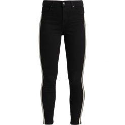 Topshop JAMIE SIDE STRIPE Jeans Skinny Fit black. Czarne jeansy damskie marki Topshop, z bawełny. Za 269,00 zł.
