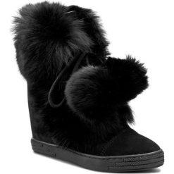 Botki R.POLAŃSKI - 0842 Czarny. Czarne buty zimowe damskie marki R.Polański, ze skóry, na obcasie. W wyprzedaży za 329,00 zł.