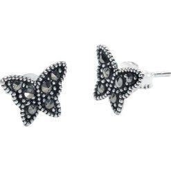 Kolczyki damskie: Schmetterling Kolczyki – Earpin srebrny