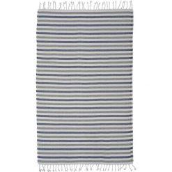 Kąpielówki męskie: Ręcznik w kolorze biało-szaro-niebieskim