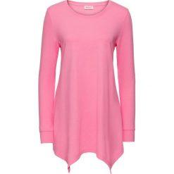 Bluzy damskie: Bluza z dłuższymi bokami, długi rękaw bonprix jaskrawy jasnoróżowy melanż