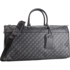 Torba GUESS - TM6609 POL91  BLA. Czarne torebki klasyczne damskie Guess, z aplikacjami, ze skóry ekologicznej. Za 729,00 zł.