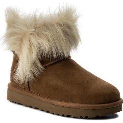Buty UGG - W Milla 1018303 W/Che. Brązowe buty zimowe damskie Ugg, ze skóry, na niskim obcasie. Za 899,00 zł.