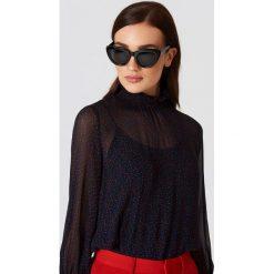 Okulary przeciwsłoneczne damskie aviatory: NA-KD Trend Okulary przeciwsłoneczne kocie oczy - Black