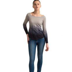 """Swetry klasyczne damskie: Sweter """"Desa"""" w kolorze beżowo-czarnym"""
