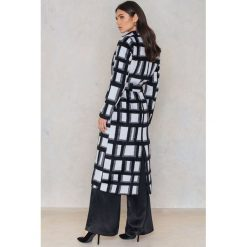 Płaszcze damskie pastelowe: NA-KD Płaszcz w kratę – Black,Multicolor