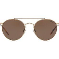 Polo Ralph Lauren - Okulary PH3114. Szare okulary przeciwsłoneczne męskie wayfarery Polo Ralph Lauren, z materiału, okrągłe. Za 649,90 zł.