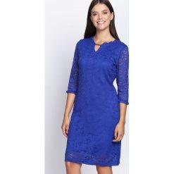 Ciemnoniebieska Sukienka My Type. Niebieskie sukienki marki Born2be, midi. Za 54,99 zł.