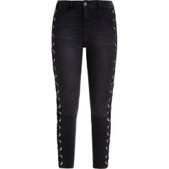 Topshop SUPER LACE UP SIDE JAMIE Jeansy Slim Fit black. Czarne jeansy damskie marki Topshop, z bawełny. W wyprzedaży za 144,50 zł.