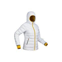 Kurtka narciarska SKI-P JKT 500 WARM damska. Białe kurtki damskie puchowe marki QUECHUA, xl, z materiału. Za 299,99 zł.