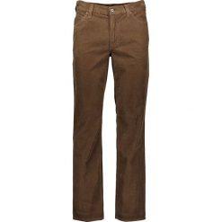 """Rurki męskie: Spodnie sztruksowe """"Oklahoma"""" w kolorze brązowym"""