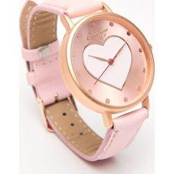 Zegarek - Różowy. Czerwone zegarki damskie marki Cropp. Za 29,99 zł.