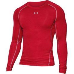 Odzież termoaktywna męska: Under Armour Koszulka męska HeatGear Compression Longsleeve czerwona r. XL (1257471-600)