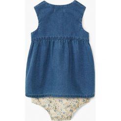 Mango Kids - Sukienka dziecięca + majtki Anabel 62-80 cm. Szare bielizna dziewczęca marki Mango Kids, z bawełny. W wyprzedaży za 39,90 zł.