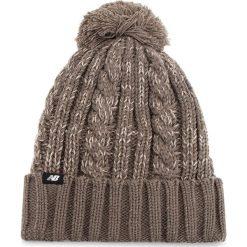 Czapka NEW BALANCE - 500201 036. Szare czapki zimowe damskie New Balance, z materiału. Za 99,99 zł.