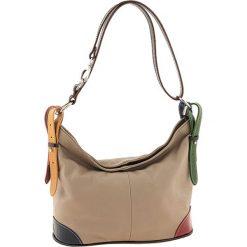 Torebki klasyczne damskie: Skórzana torebka w kolorze beżowym – 30 x 25 x 16 cm