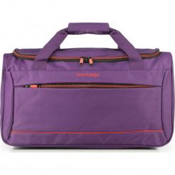Torba podróżna 56-3S-466-44. Fioletowe torebki klasyczne damskie marki Wittchen, w paski, z materiału. Za 139,00 zł.