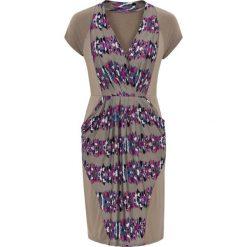Sukienki: Sukienka bonprix brunatny wzorzysty