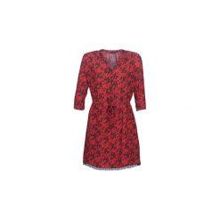 Sukienki krótkie Ikks  FIRTYZ. Czerwone sukienki hiszpanki IKKS, z krótkim rękawem, mini. Za 737,10 zł.