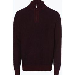 Nils Sundström - Sweter męski, czerwony. Szare swetry klasyczne męskie marki Nils Sundström, m, z bawełny, ze stojącym kołnierzykiem. Za 179,95 zł.