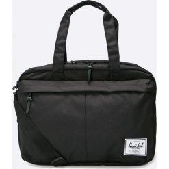 Herschel - Torba. Czarne torby na laptopa marki Herschel, w paski, z materiału. W wyprzedaży za 219,90 zł.