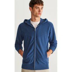 Bluza z kapturem - Niebieski. Niebieskie bejsbolówki męskie Reserved, l, z kapturem. Za 99,99 zł.
