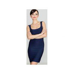 Sukienka K081 Granat. Szare sukienki z falbanami marki Lenitif, l. Za 99,00 zł.