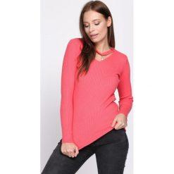 Różowy Sweter Shine Brightly. Czerwone swetry klasyczne damskie Born2be, na jesień, uniwersalny. Za 34,99 zł.