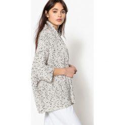 Sweter rozpinany, półdługi. Szare kardigany damskie marki La Redoute Collections, m, z bawełny, z kapturem. Za 288,08 zł.