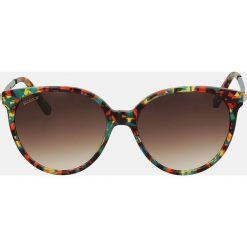 Multikolorowe okulary przeciwsłoneczne. Szare okulary przeciwsłoneczne damskie aviatory Kazar. Za 399,00 zł.