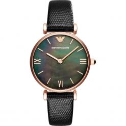 Zegarek EMPORIO ARMANI - Gianni T-Bar AR11060 Black/Rose Gold. Szare zegarki damskie marki Emporio Armani, l, z nadrukiem, z bawełny, z okrągłym kołnierzem. Za 1059,00 zł.