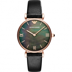 Zegarek EMPORIO ARMANI - Gianni T-Bar AR11060 Black/Rose Gold. Czarne zegarki damskie Emporio Armani. Za 1059,00 zł.