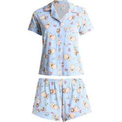 Piżamy damskie: Chelsea Peers SLEEPING PUGS Piżama light blue