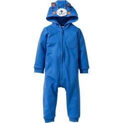 Kombinezony niemowlęce: Kombinezon niemowlęcy dresowy z kapturem, bawełna organiczna bonprix lodowy niebieski